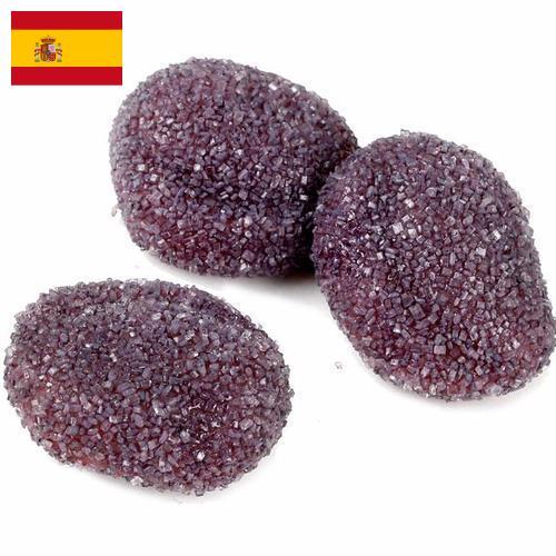изделия кондитерские сахаристые из Испании