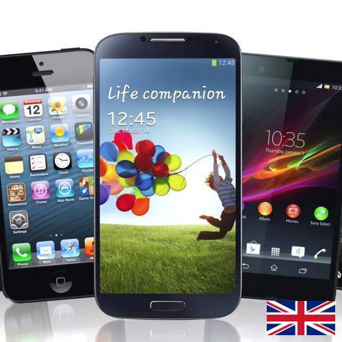 сотовых телефонов из Великобритании